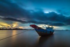 Wolke auf Boot Lizenzfreies Stockbild