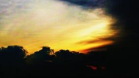 Wolke auf dem Himmel - Sonnenuntergang Lizenzfreie Stockfotos