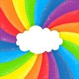 Wolke auf Regenbogenhintergrund