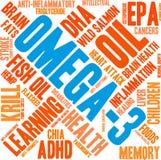 Wolke des Wort-Omega-3 vektor abbildung