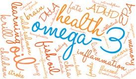 Wolke des Wort-Omega-3 lizenzfreie abbildung
