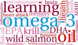 Wolke des Wort-Omega-3 stock abbildung