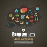 Wolke, die abstrakten Hintergrund berechnet lizenzfreie stockbilder