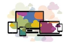 Wolke, die flaches Design berechnet Lizenzfreie Stockfotos