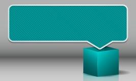 Wolke für Textknall aus dem Kasten in einer interessanten Farbe heraus Stockfotografie