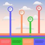 Wolke infographic Lizenzfreies Stockfoto