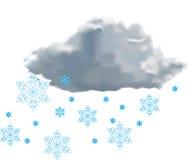 Wolke mit Schnee Lizenzfreie Stockfotos