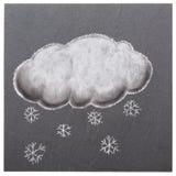Wolke mit Schneeflocken Lizenzfreie Stockbilder
