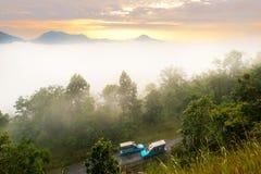 Wolke am Morgen Stockfoto