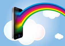 Wolke smartphone Lizenzfreie Stockfotos