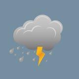 Wolke und Blitz Lizenzfreies Stockbild