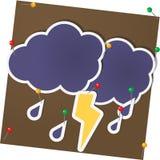Wolke und Blitz Lizenzfreie Stockbilder
