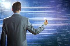 Wolke und emty Bildschirm Lizenzfreies Stockfoto