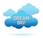 Wolke und großer Text des Traums Stockfoto