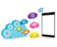 Wolke und intelligentes Telefon Lizenzfreies Stockfoto