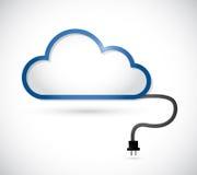 Wolke und Kabelanschluss. Illustrationsdesign Stockfotos