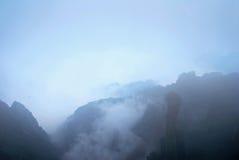 Wolke und Nebel Stockfoto