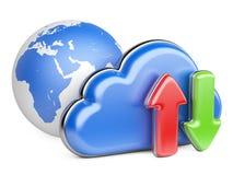 Wolke und Pfeile Stockfotos
