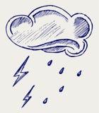 Wolke und Regen Stockbild