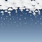 Wolke und Regen, Blitz, Hintergrundvektor lizenzfreie abbildung