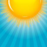 Wolke und sonnige Hintergrundvektorillustration Lizenzfreie Stockfotografie