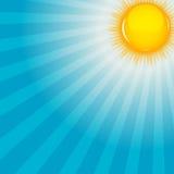 Wolke und sonnige Hintergrundvektorillustration Stockfoto