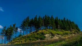 Wolken über Beskids-Bergen stock footage