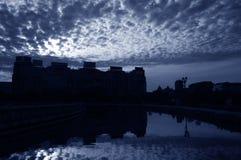 Wolken über dem Bucharest #2 lizenzfreies stockfoto