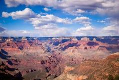 Wolken über dem Grand Canyon Stockbild