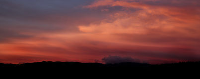 Wolken über dem Horizont Lizenzfreies Stockbild
