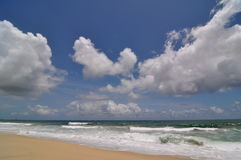 Wolken über dem Ozean in Los Cabos Mexiko lizenzfreies stockbild