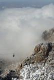 Wolken über dem Sandias Förderwagen Lizenzfreie Stockbilder