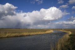 Wolken über der Insel von Dordrecht Lizenzfreies Stockbild