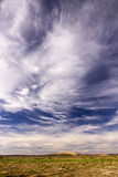 Wolken über der marokkanischen Landschaft stockfotografie