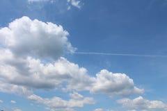 Wolken über der Steppe Stockbild