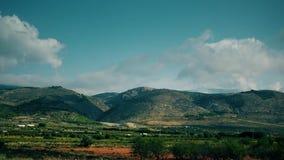 Wolken über Fruchtobstgärten von Andalusien, Spanien Geschossen auf Kennzeichen II Canons 5D mit Hauptl Linsen stock video footage