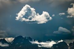 Wolken über Gletscher, Banff NP Lizenzfreies Stockfoto