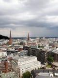 Wolken über Hamburg Stockfoto
