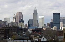 Wolken über im Stadtzentrum gelegenem Cleveland Lizenzfreie Stockfotografie
