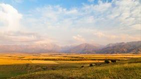 Wolken über ländlicher Landschaft, Kasachstan stock video footage