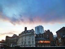 Wolken über Leeds lizenzfreies stockfoto