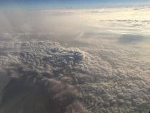 Wolken über Nord-Italien Stockfotos