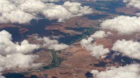 Wolken über Südafrika stockfotos