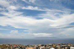 Wolken über Sao Filipe Lizenzfreies Stockfoto