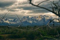 Wolken über Torres Del Paine Lizenzfreies Stockbild