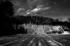 Wolken über Wald Lizenzfreies Stockfoto