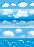 Wolken royalty-vrije illustratie