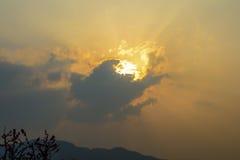 Wolken am Abend Stockfotografie