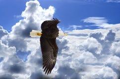 Wolken achter vrijheid Royalty-vrije Stock Foto