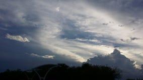 Wolken als bergen Royalty-vrije Stock Afbeelding